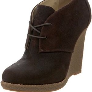 PERFECT FALL SHOE ENZO ANGIOLINI BROWN WEDGES 7.5